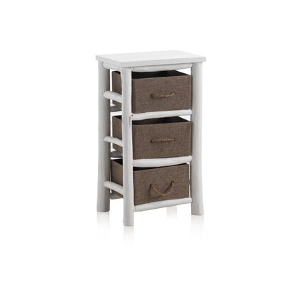 Geese Wooden Rustic 3 Drawer Chest