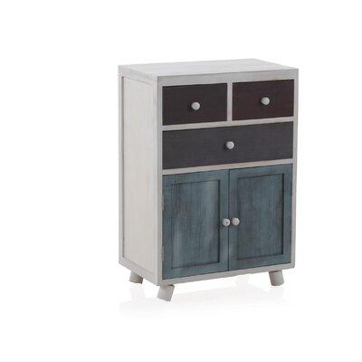 Geese 3 Drawer 2 Door Wooden Cabinet