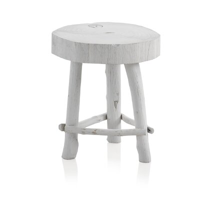 Geese Wooden Rustic Small Stool