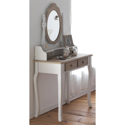 Geese Console Table with Mirror Set