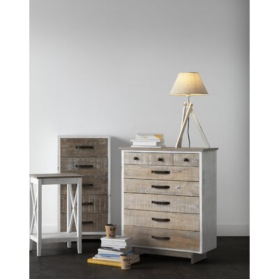 Geese Wooden Rustic Front 8 Drawer Chest of Drawers