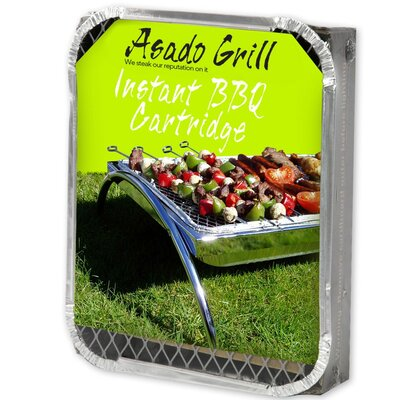 Asado Grill 31 cm Bamboo Charcoal Disposable Grill Set