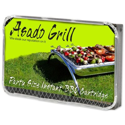 Asado Grill 51 cm Bamboo Charcoal Disposable Party Grill Set