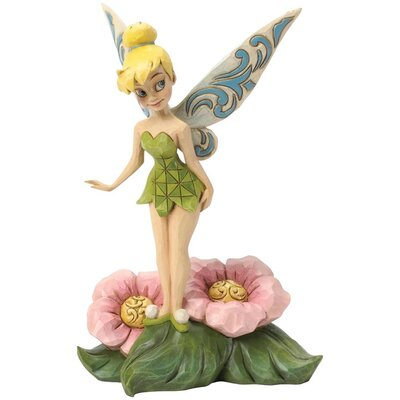 Disney Traditions Tinker Bell Standing on Flower Figurine