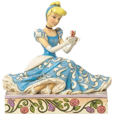 Disney Traditions Cinderella with Jaq Gus Figurine