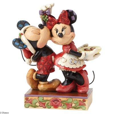 Disney Traditions Under the Mistletoe Mickey & Minnie Mouse Figurine
