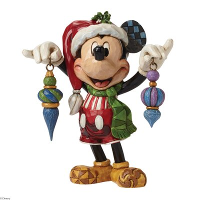 Disney Traditions Deck the Halls Mickey Mouse Figurine