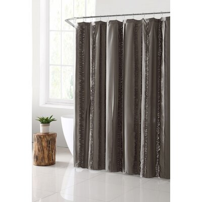 Bettine Solid Technique Shower Curtain Color: Taupe