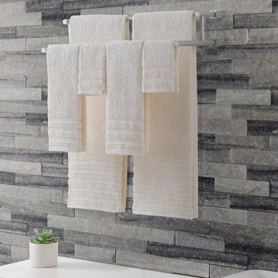 Wide Ribbed Hotel 6 Piece Towel Set