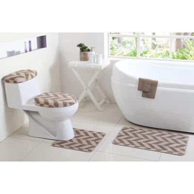 Josette 6 Piece Bath Rug Set Color: Taupe