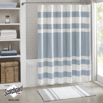 "Malory Shower Curtain Size: 72"" W x 72"" H, Color: Blue"