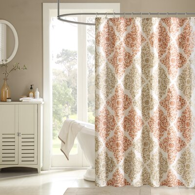 """Printed Shower Curtain Size: 54"""" W x 78"""" L"""