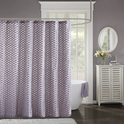 Cristian Clipped Shower Curtain Color: Purple