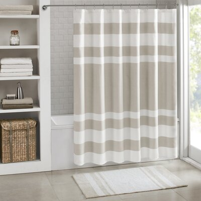 """Malory Shower Curtain Color: Taupe, Size: 108"""" W x 72"""" H"""
