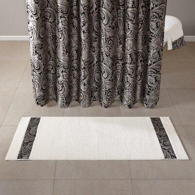 "Pokanoket Tufted Bath Rug Size: 24"" x 60"", Color: Black/Ivory"