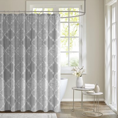 Harding Cotton Sateen Shower Curtain Color: Gray