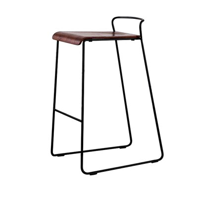 "Lockwood 29"" Bar Stool Color: Walnut"