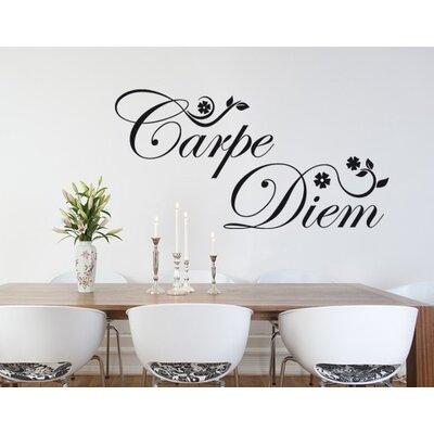 Klebefieber Carpe Diem Floral Wall Sticker