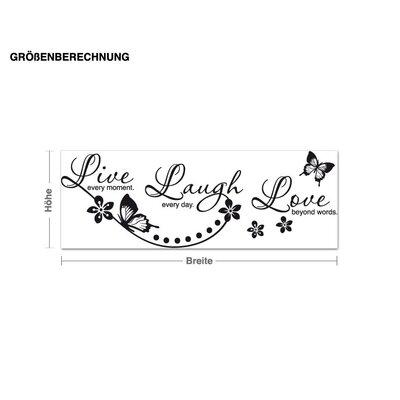Klebefieber Live Laugh Love Wall Sticker
