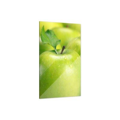 Klebefieber Grüner Apfel Glass Art