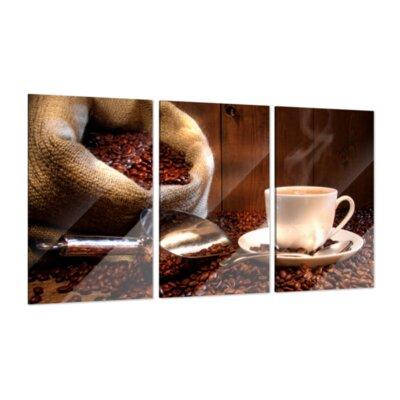 Klebefieber Kaffeegenuss 3-Piece Glass Art Set