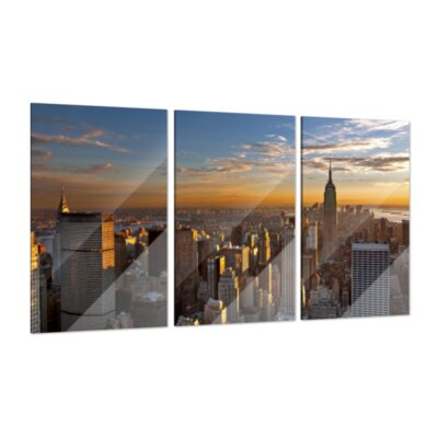 Klebefieber New York 3-Piece Glass Art