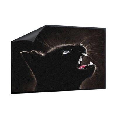 Klebefieber Schwarze Katze Doormat