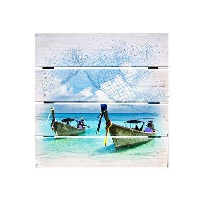 Klebefieber Zwei Boote Photographic Print on Canvas