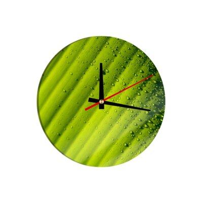 Klebefieber Close Up Leaf 30cm Analogue Wall Clock