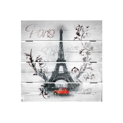 Klebefieber Floraler Eiffelturm Photographic Print on Canvas