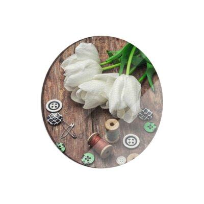 Klebefieber Tulpen mit Nähzeug Cutting Board