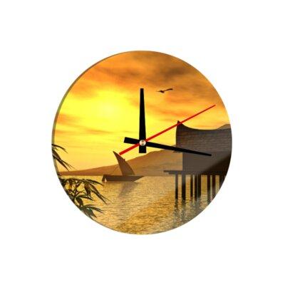 Klebefieber Golden Lagoon 30cm Analogue Wall Clock