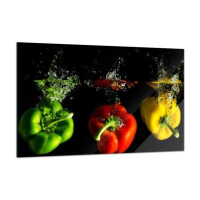 Klebefieber Paprika Mix Glass Art