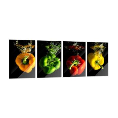 Klebefieber Paprika Mix 4-Piece Glass Art Set
