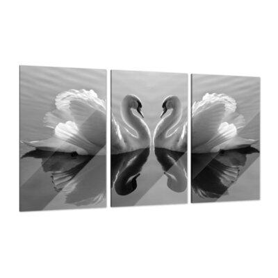 Klebefieber Verliebte Schwäne 3-Piece Glass Art Set