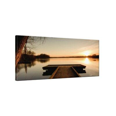 Klebefieber Steg im Sonnenuntergang Photographic Print on Canvas