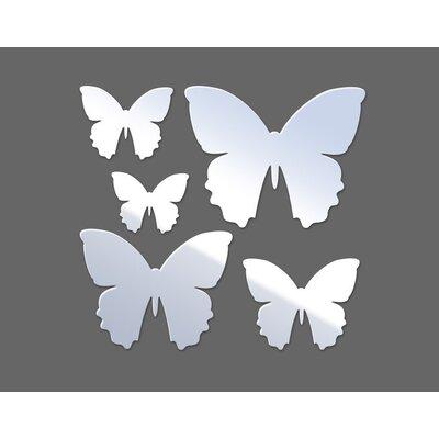 Klebefieber Butterflies Designer Wall Mirror Set