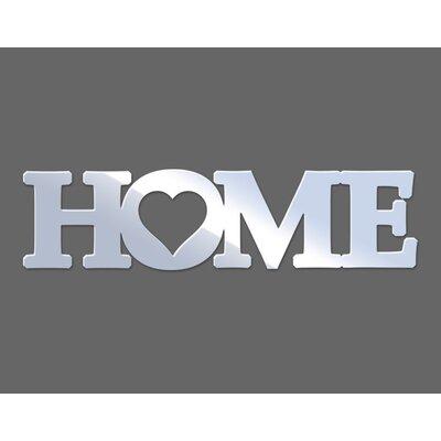 Klebefieber Schriftzug Home Mirror Design