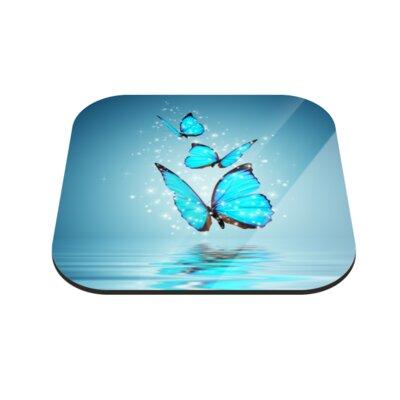 Klebefieber Glitzernde Schmetterlinge Coaster Set