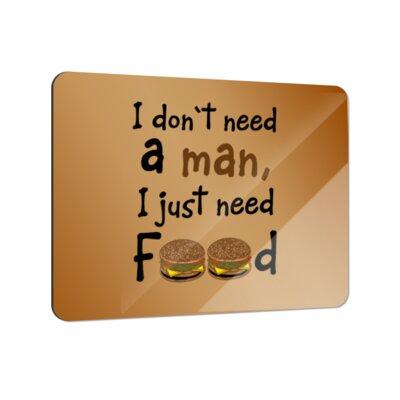 Klebefieber I Just Need Food Coaster Set