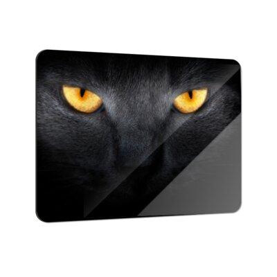 Klebefieber Katze in der Dunkelheit Coaster Set