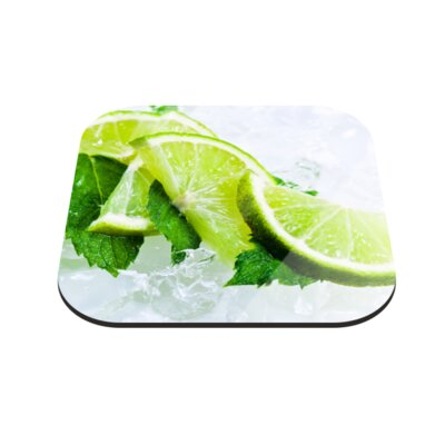 Klebefieber Limetten on Ice Coaster Set