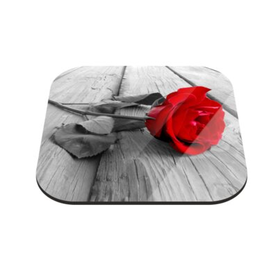Klebefieber Rose am Steg Coaster Set