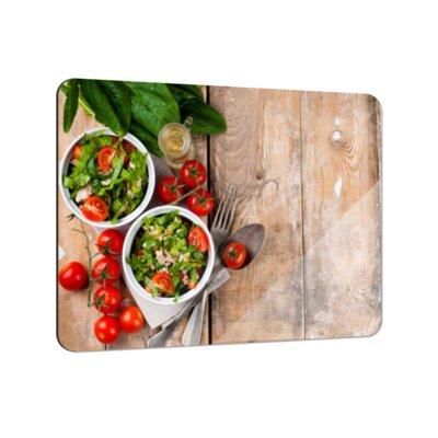 Klebefieber Sommer-Salat Tomate Coaster Set