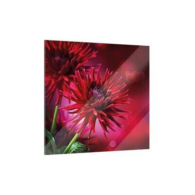 Klebefieber Red Dahlia Glass Art