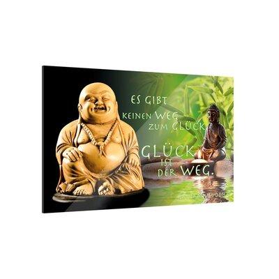Klebefieber Buddha Glück Glass Art