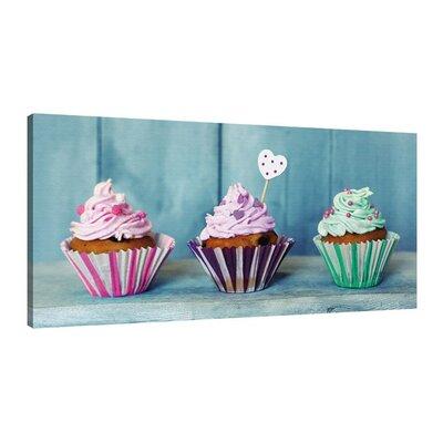 Klebefieber Süße Cupcakes Photographic Print on Canvas