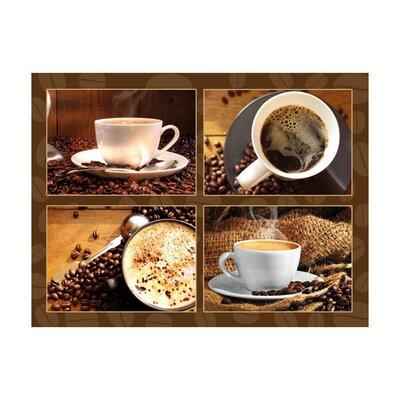 Klebefieber Duftender Kaffeegenuss 4-Piece Glass Art Set