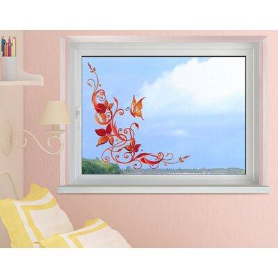 Klebefieber Florale Verzierung Window Sticker