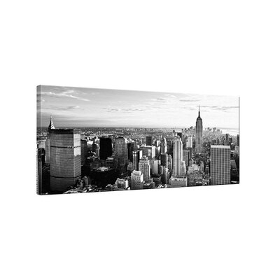 Klebefieber Manhattan Skyline Black and Grey Photographic Print on Canvas